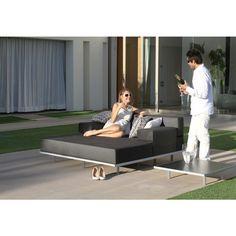 Royal Botania Red Label Lazy Lounge Gruppe, modulierbarer Basiselement 80 x 160 cm