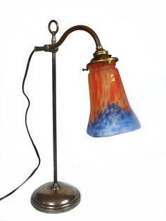 Antique french Art Nouveau lamp. Desk lamp. MULLER di OhInTheShop