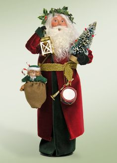 Byers choice old english santa could be the centerpiece in your byers