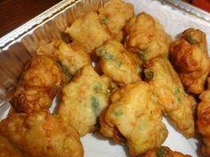 Island Yummyness:  Chamorro Shrimp Patties from Food.com. A traditional Chamorro recipe and always an island favorite. I hope you enjoy it.
