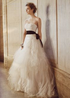 Layered tulle by Vera Wang.