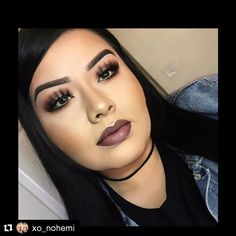 @xo_nohemi used Madly Matte Lip Gloss in Winterberry with Dusty Rose in the center! #repost #kleancolor #madlymatte #madlymattelipgloss #matte #lip #liplook #winterberry #dustyrose #makeup #cosmetics #beauty