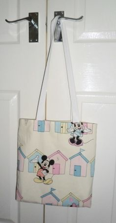 Mickey and Minnie Fabric Tote Bag - Free UK P&P £14.00