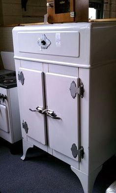 vintage refrigerator Again, made safe for children, very interesting learning play could emerge.