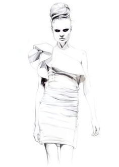 Penciled Fashion Illustrations : Caroline Andrieu