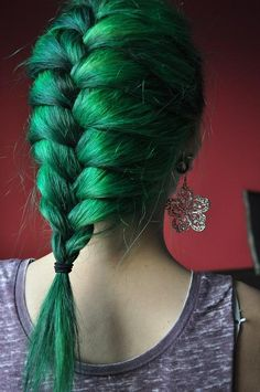 #green #dyed #scene #hair #pretty