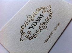 VDSM - bussiness card - letterpress
