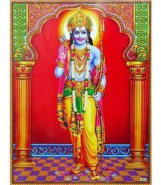 Rama Poster - Shop Online Sri Ram Image, Shri Ram Photo, Shri Ram Wallpaper, Ram Hanuman, Lord Rama Images, Lord Hanuman Wallpapers, Ram Photos, Lord Krishna Images, Lord Vishnu
