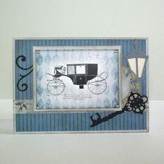 vintage card maskuline - car