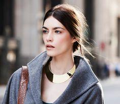 ... gray coat + natural hair