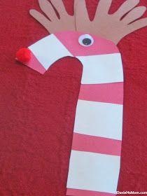 {Christmas Craft} Candy Cane Reindeer