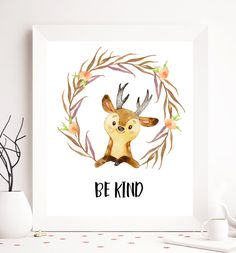 $5 Nursery printable you are so loved deer by SoulPrintables on Etsy