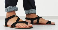 Leather Sandals  Unisex Shoes  All Sizes  Any Colors by SHUNAMI, $50.00