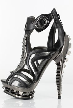 Hades Shoes - Orion - Black - Metal Goth