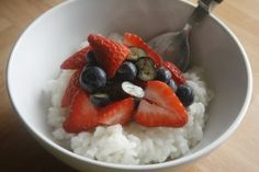 Breakfast Rice. Save your HEb and make this (without sweetener if you like) top with yoghurt and fruit (grated apple and cinnamon is my fave). I make enough for 3-4 days, and warm some up for my breakfast while preparing the toppings. Hot 'free' breakfast with loads of superfree!!