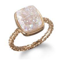Nadia Stackable Druzy Ring by Dara Ettinger - lifestylerstore - http://www.lifestylerstore.com/nadia-stackable-druzy-ring-by-dara-ettinger/