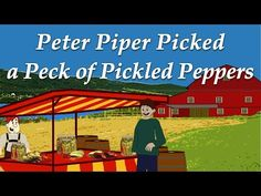 Peter Piper Picked a Peck of Pickled Peppers Peter Piper, Tongue Twisters, Curriculum, English, Resume Cv, Tornados, Teaching Plan, English Language