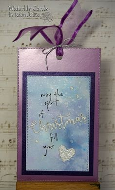Waterlily Cards by Robyn: Spirit of Christmas Tag Christmas Tag, Christmas Crafts, Water Lilies, Spirit, Tags, Frame, Picture Frame, Christmas Ornament, Frames