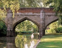 An poster sized print, approx mm) (other products available) - ELTHAM PALACE, London. The stone bridge over the moat. - Image supplied by Historic England - poster sized print mm) made in the UK Eltham Palace, Most Beautiful Gardens, Amazing Gardens, Palace London, Palace Garden, London Garden, English Country Gardens, Public Garden, Outdoor Sculpture