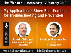 Live Webinar: My Application is Slow: Best Practices for Troubleshooting and Prevention, Wednesday, 17 February 2016