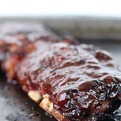 Slow Cooker BBQ Ribs - for family staycation! Thanks @Amanda Snelson Snelson Slater!!