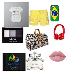 """""""Rio"""" by natasha-maria-louise-mason on Polyvore featuring Abercrombie & Fitch, Casetify, NYX, Louis Vuitton, Beats by Dr. Dre, Gucci and Lime Crime"""