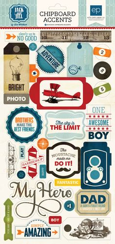 Jack & Jill Boy collection by #EchoPark Paper #cha #scrapbook