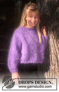 Children - Free knitting patterns and crochet patterns by DROPS Design Kids Knitting Patterns, Knitting For Kids, Knitting Designs, Free Knitting, Drops Design, Gros Pull Mohair, Fall Sweaters For Women, Magazine Drops, Big Knits