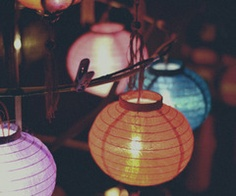 paper globe lights! (I love these)