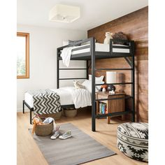 Room & Board - Chase Kids' Bunk Bed in Colors - Modern Bunk Beds & Loft Beds - Modern Kids Furniture Modern Kids Furniture, Modern Kids Bedroom, Modern Bunk Beds, Kids Bedroom Furniture, Girls Bedroom, Bedroom Decor, Boys Shared Bedroom Ideas, Modern Loft, Bunk Bed Decor