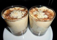 tiramisu poires, palets breton, café, amaretto