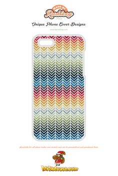 A Multi Chevron Multi Coloured phone case available for all phone makes and models and can be personalised and purchased from www.mrnutcase.com