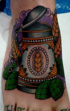 Now that is a foot tattoo!