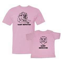 We Match! Sleep Deprived & Sleep Depriver (Lions) Matching Adult T-Shirt & Child T-Shirt Set (Youth X-Small T-Shirt, Adult T-Shirt XL, Pink) We Match! http://www.amazon.com/dp/B01590LSK6/ref=cm_sw_r_pi_dp_xflcwb027R3CC