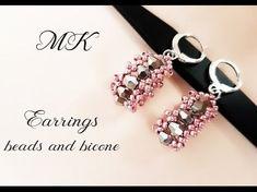 #МК - Серьги ромбы из бисера и биконусов | Earrings from beads and bicone - YouTube