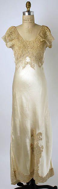 Wedding trousseau Date: 1937 Culture: American Medium: silk, cotton Accession Number: 1994.558a–e