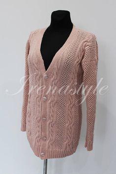 MADE TO ORDER Hand Knit Cardigan  Jacket . Aran Cardigan