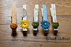 decorate clothes pins, then add a magnet on the back, great idea for the fridge, white board, or awesome gift idea!