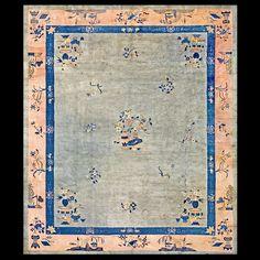 Chinese Peking Rug #20-8001 Circa:1930 Origin:China #pottedplant #chineseclassicalstyle #chinesepeking #antiquerug #carpet #antiquerugstudio #Rahmanan #中国京式古地毯