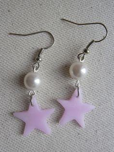 Boucles d'oreilles Angélique 2 #étoile #star #pink