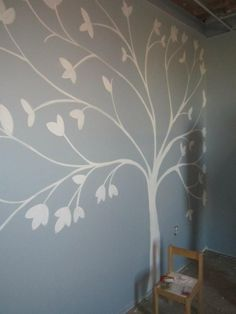 Tree Mural... Just Use A Transparency/projector With Free Hand Or Trace Part 78