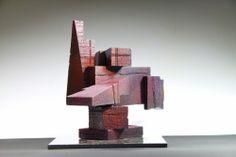 Red Ediface a sculpture by Richard Arfsten