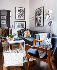 Jenna Snyder-Phillips Art Transforms a 400-square-foot Apartment