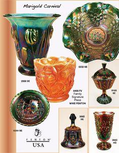 Fenton Art Glass Company Catalog | 2009 - Pg. 4 Fenton Glassware, Vintage Glassware, Vintage Fairies, Glass Company, Carnival Glass, Glass Collection, Antique Glass, Glass Design, Makers Mark