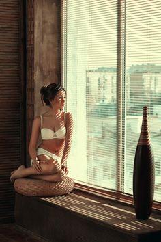 2a47fe085bda Оля by Olga Aprelskaya, via 500px Lingerie Photography, Boudoir Poses,  Chair Pose,