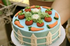Peter Rabbit Birthday Party smash cake