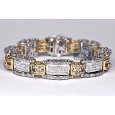 Two Tone Gold ct Diamond Mens Bracelet 8 Inches Bracelets For Men, Link Bracelets, Jewelry Bracelets, Gents Bracelet, Bff, Diamond, Gold, Men's Wristbands, Diamonds