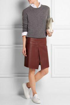 Joseph | Saar wrap-effect leather skirt | NET-A-PORTER.COM