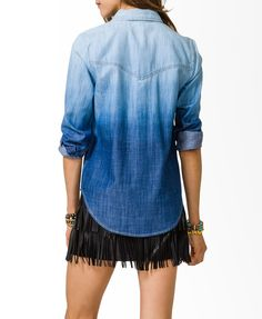 Ombre Western Denim Shirt DIY inspiration