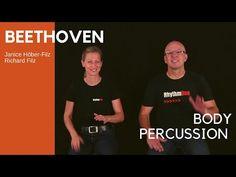 BEETHOVEN BODY PERCUSSION for KIDS - YouTube Kindergarten Music, Teaching Music, Teaching Kids, Lets Play Music, Music For Kids, Beethoven Music, Middle School Choir, Music Websites, Elementary Pe